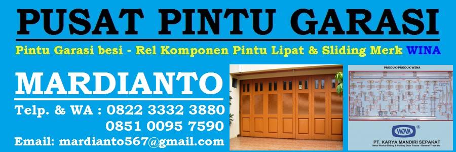 Pusat Pintu Garasi Besi Wina - Rel Pintu Garasi Wina & Penyekat - Komponen Pintu lipat - Sliding - Geser - Surabaya - Gresik - Sidoarjo - Malang