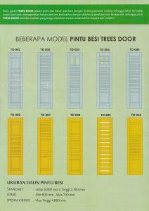 pintu garasi besi trees door